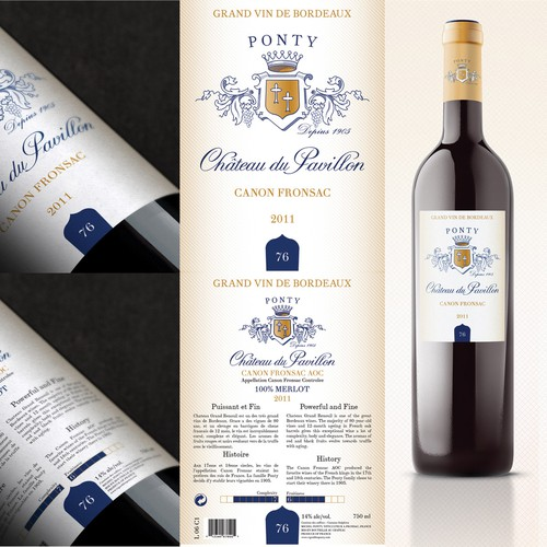 Wine label wanted for Bordeaux Ponty Winery