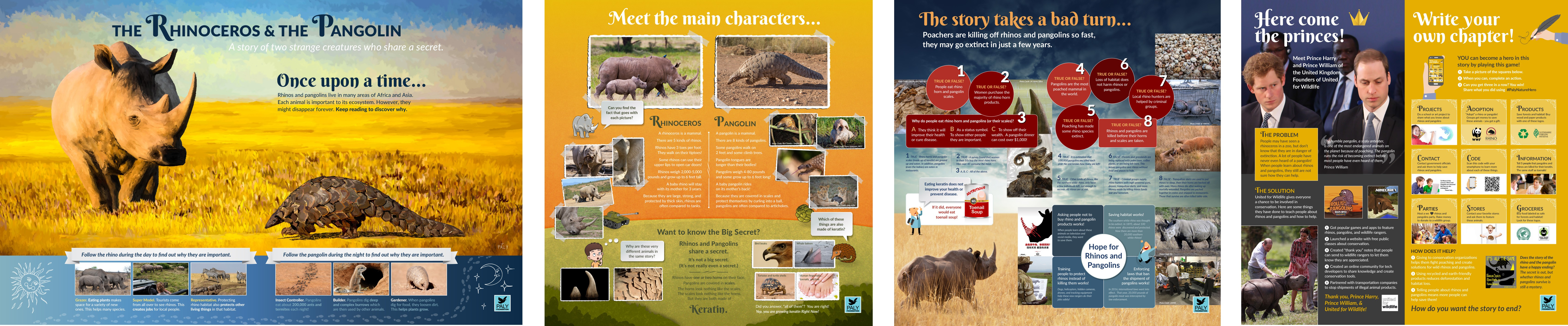 Rhinos and Pangolins Exhibit, part 2