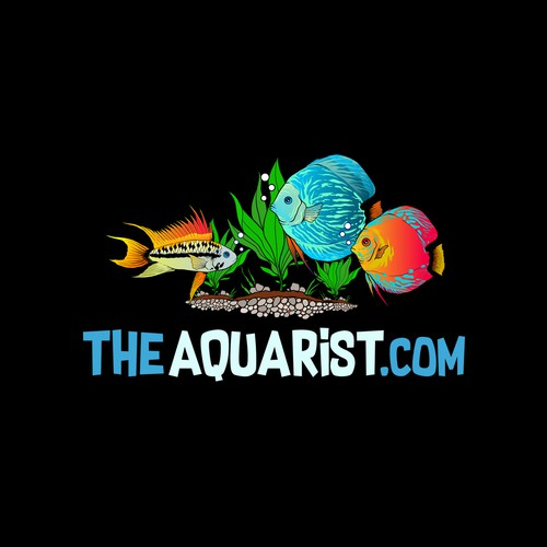 Logo design for The Aquarist, Tropical fish importers that specialize in discus fish and apistogramma.