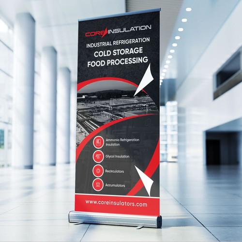 Industrial Refrigeration Contractor Banner Design