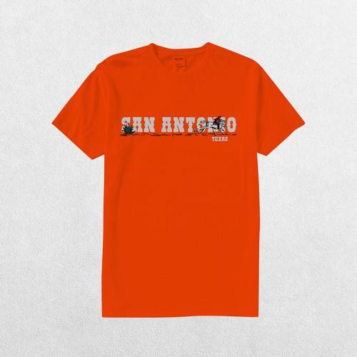 San Antonio T shirt Cartoon Concept