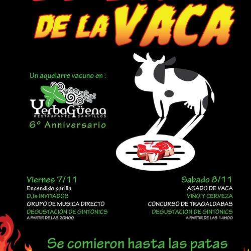 Create poster for a food festival near Malaga