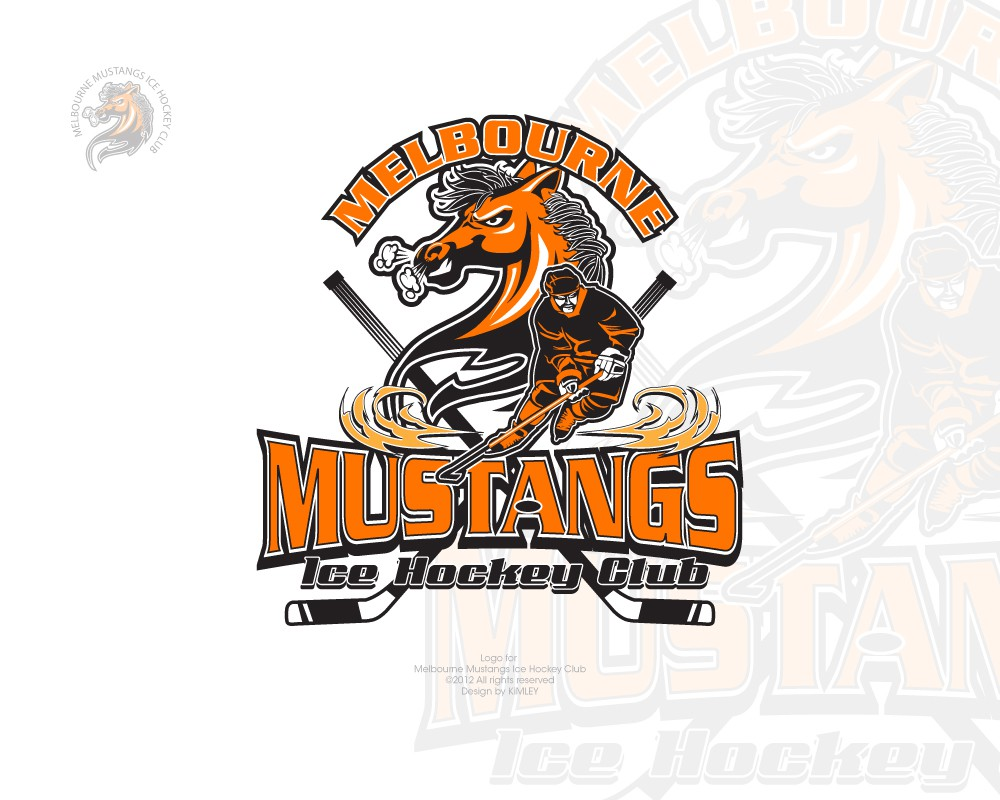 logo for Melbourne Mustangs Ice Hockey Club