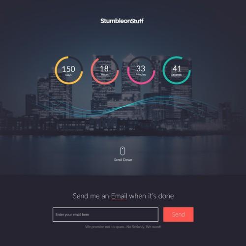 StumbleonStuff launching soon page.