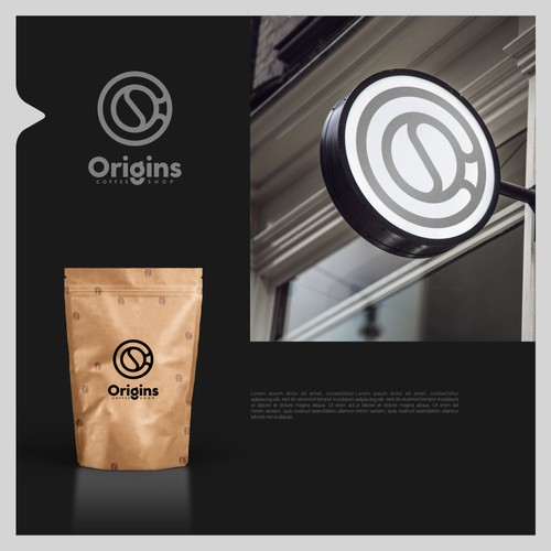 Bold logo concept for coffee shop