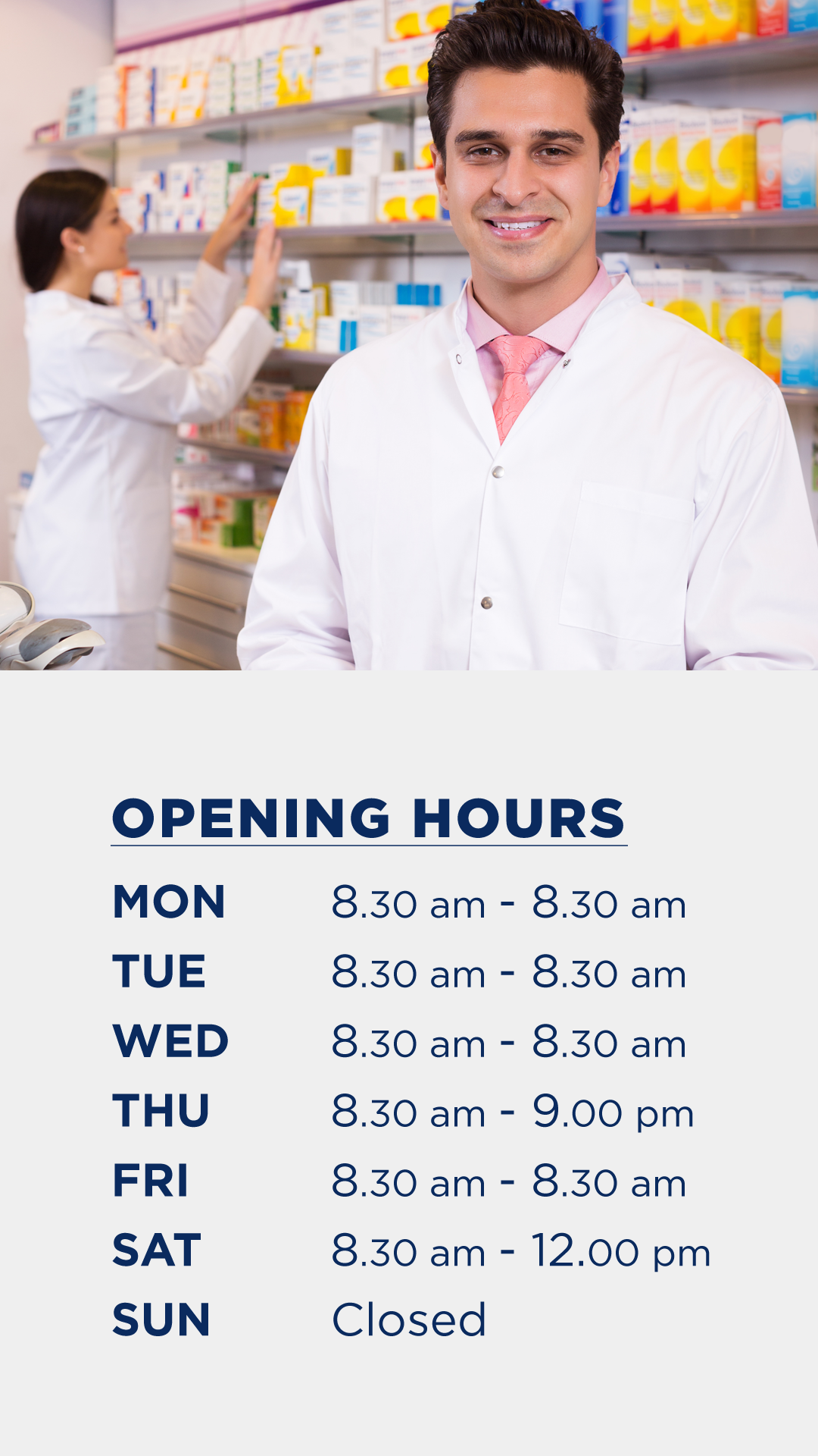 Re-formatting the Open hour Posters