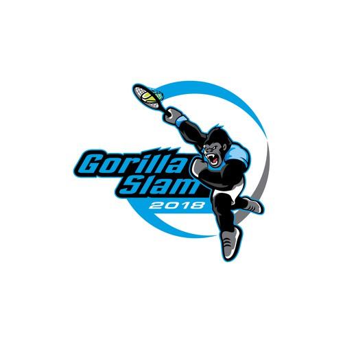 Gorilla logo for tennis service tournament