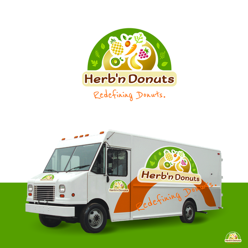 Donuts and herbs bold logo