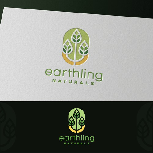 "Logo for natural supplement company ""Earthling Naturals"""
