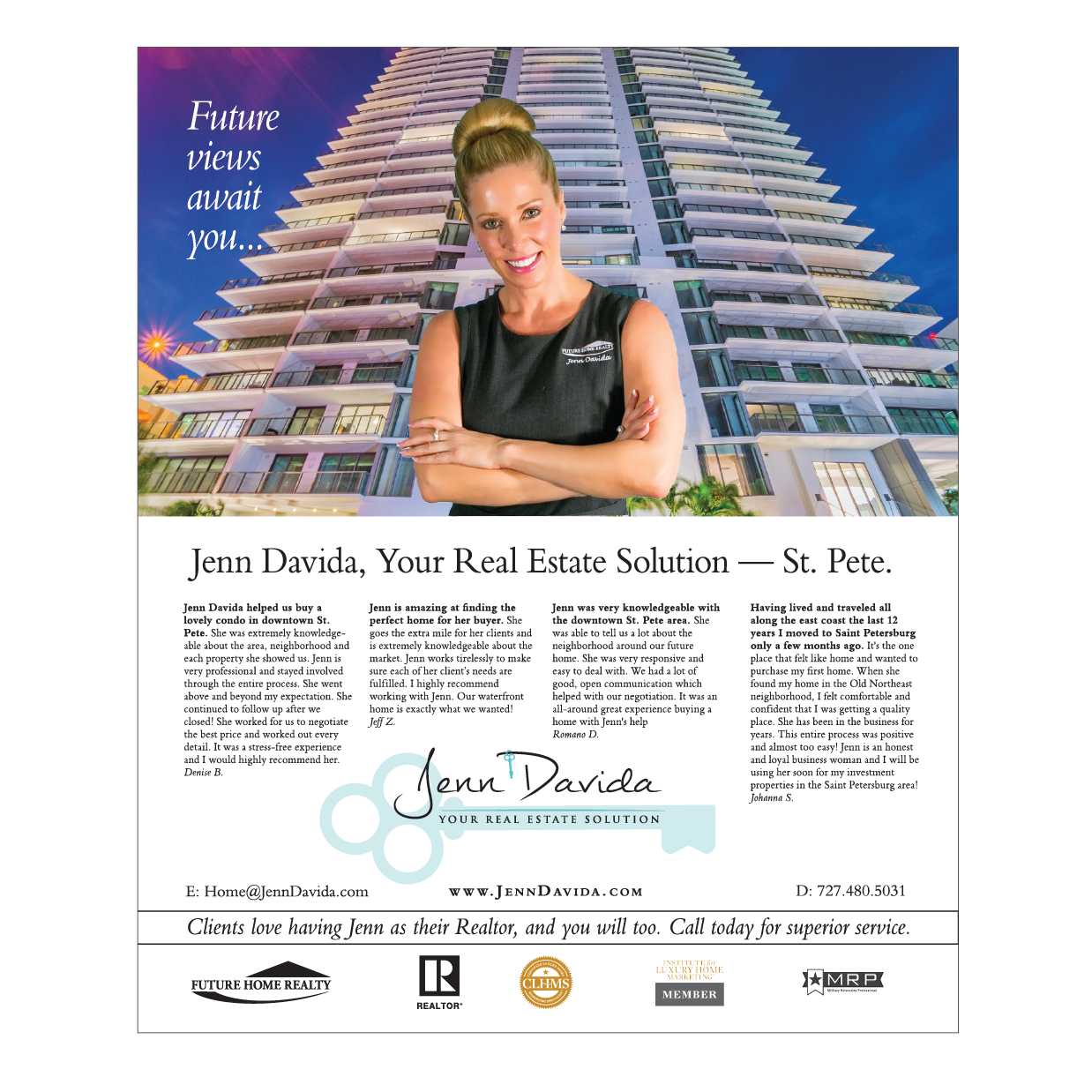 Real Estate Agent Magazine Page (creative with branding)
