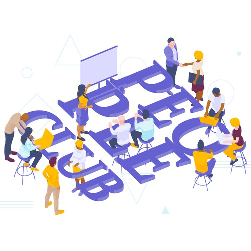 Webpage illustration for Startup Community