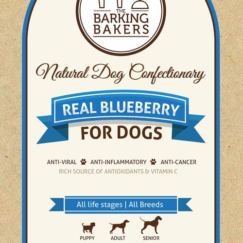 The Barking Bakers needs a new product label