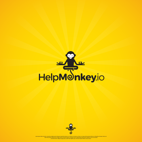 Easy to remember and a bit fun logo for HelpMonkey.io