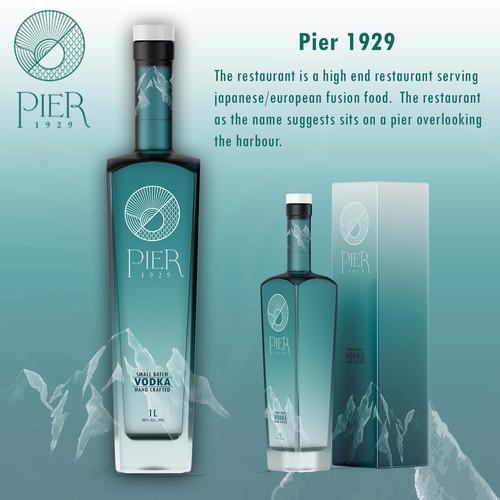 Pier 1929 Vodka Label