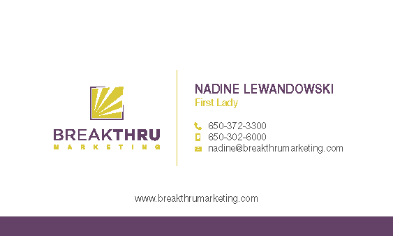 Breakthru bizcard updates + Studio13 bizcard