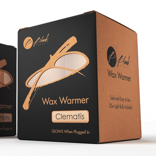 Cardboard packaging for a wax warmer product