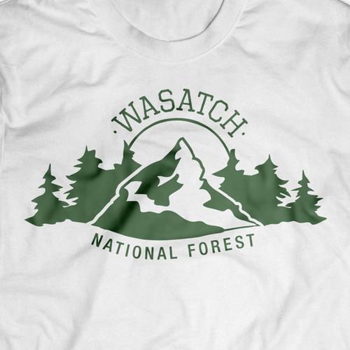 Wasatch National Forest T Shirt Design
