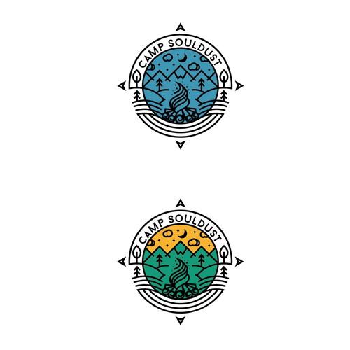 Elegant Scenery Logo design for Magic in The Forest Camp Souldust
