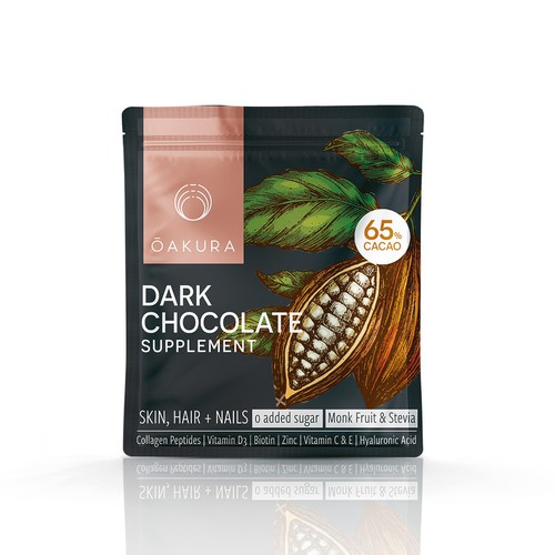 Dark chocolate pouch