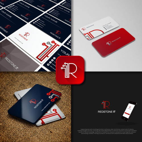 Logo concept for REDSTONE IT
