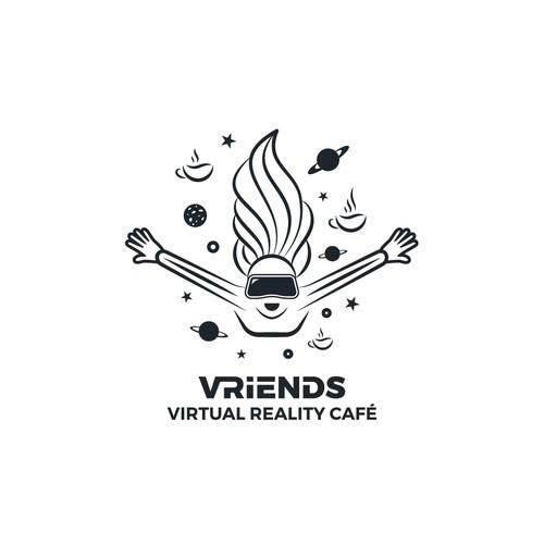 vector art logo for VR Friends
