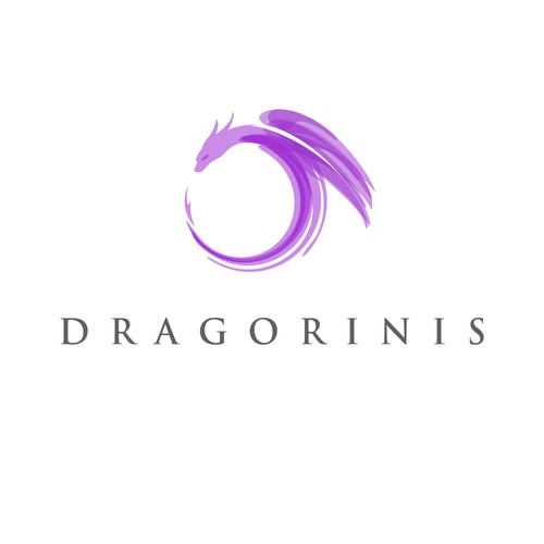 Dragorinis, paint style logo