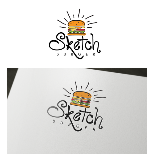 "Logo for ""Sketch Burger"""