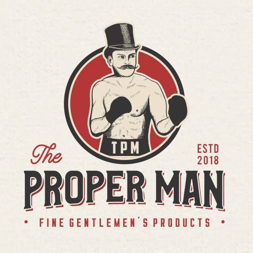 "Vintage Logo For ""The Proper Man"""