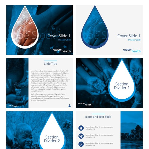 PowerPoint template for WaterHealth
