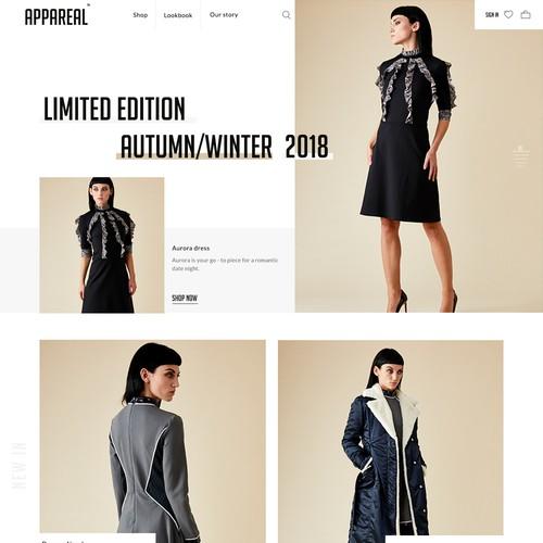 Bold e commerce clothes shop