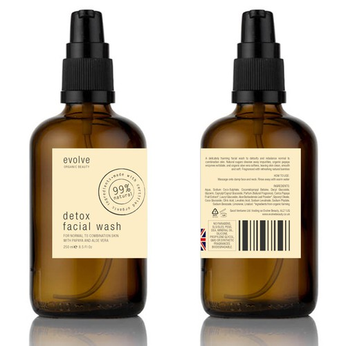 Label visualisation and design for a modern organic apothecary range