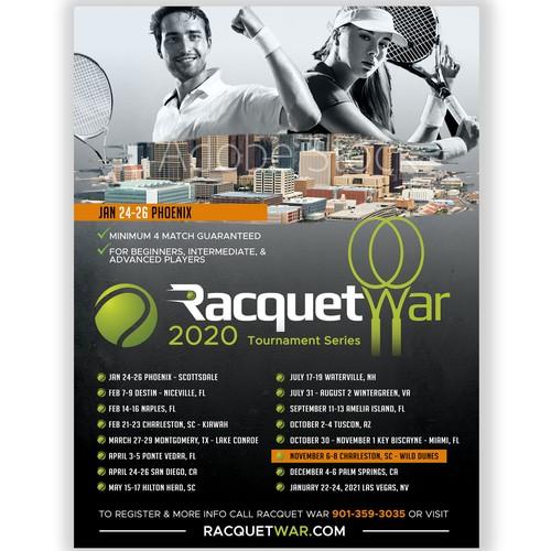 Sport tennis flyer
