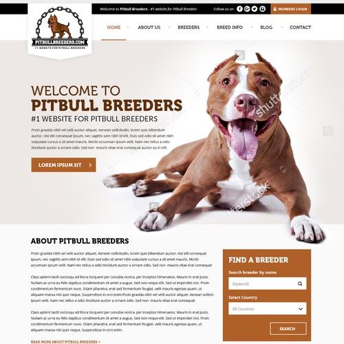 Dog, pet website design