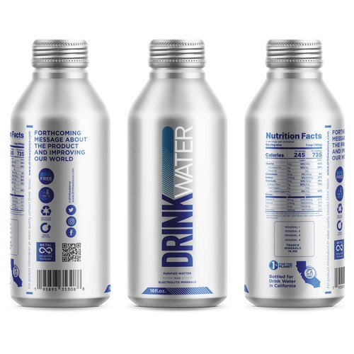 Packaging water label Design