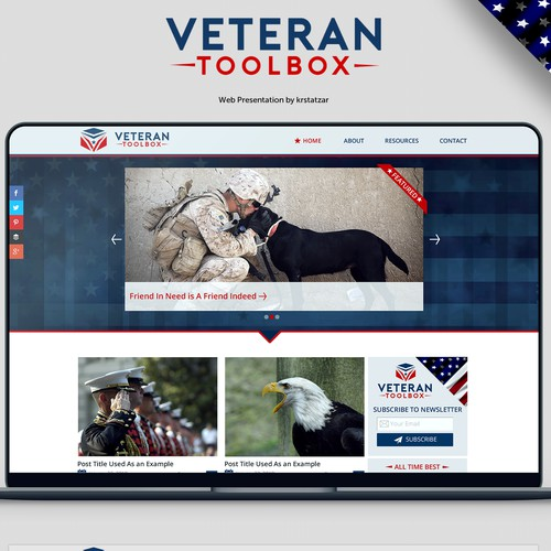 Veteran Toolbox WordPress theme