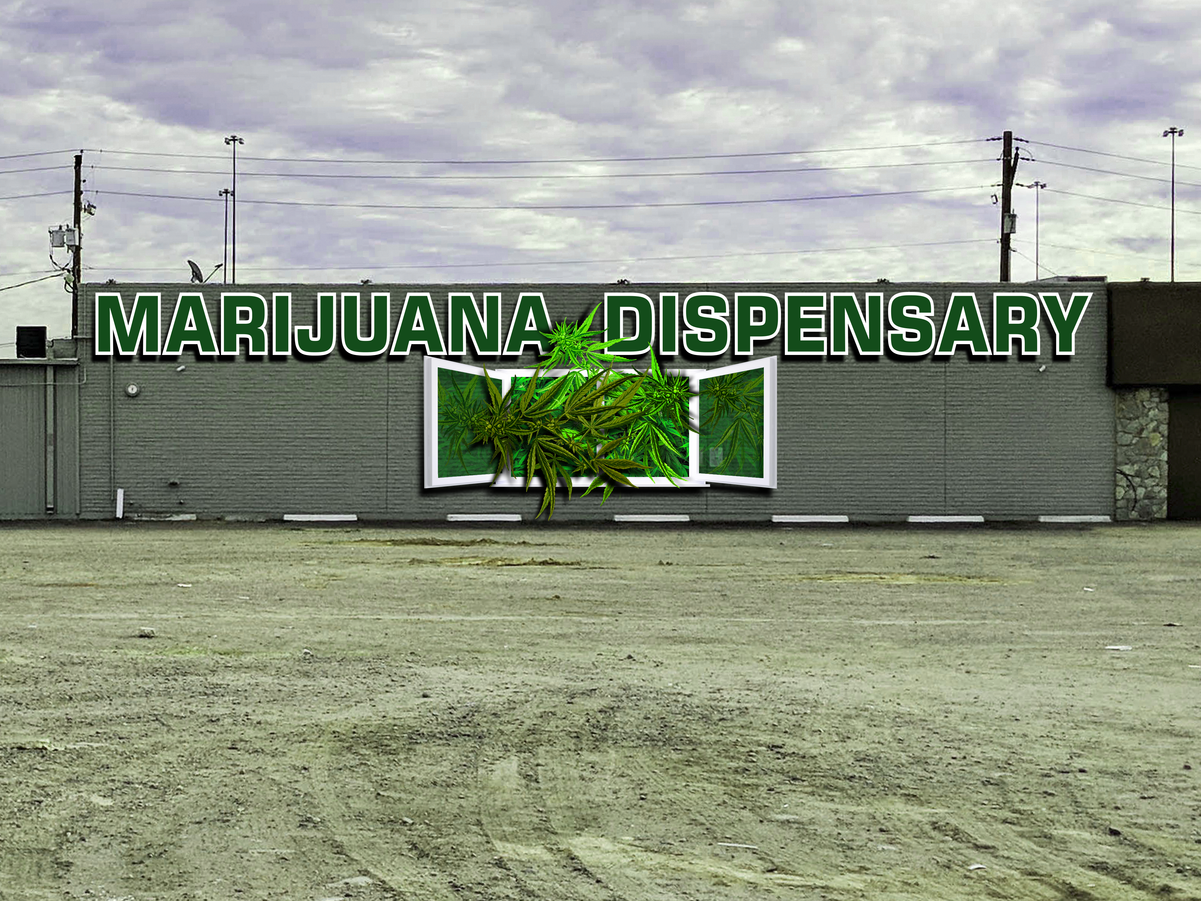 Outdoor Marijuana Mural