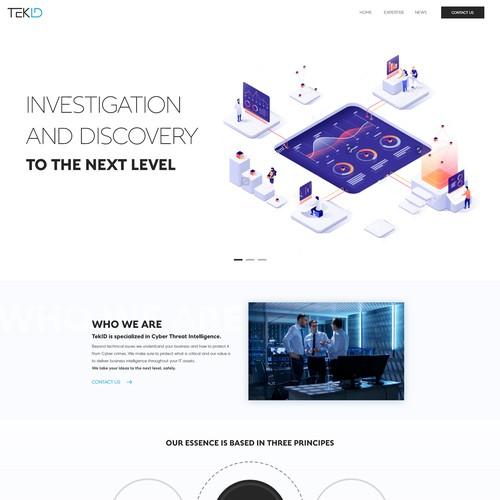 TekID Homepage design