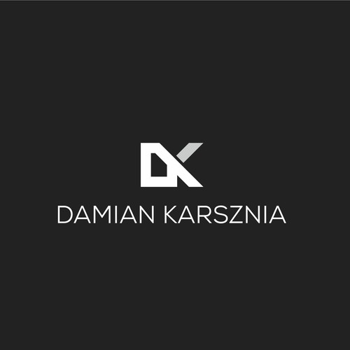 Elegant logo concept DK