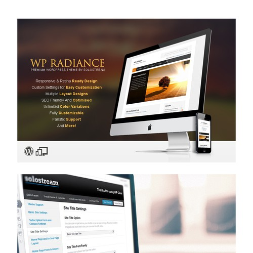 Stunning Showcase of our WordPress theme needed!