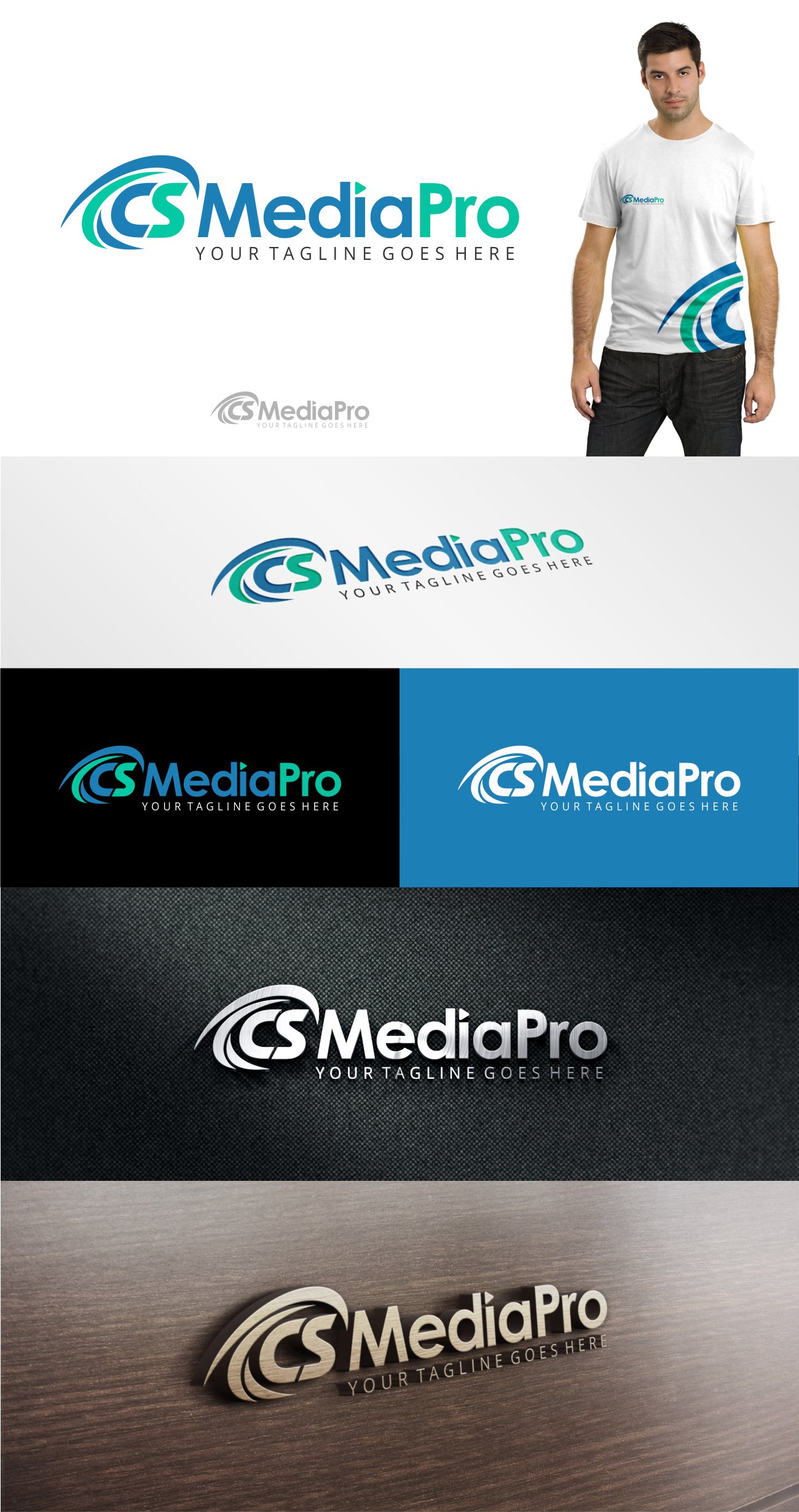 Create an updated logo for CSMediaPro