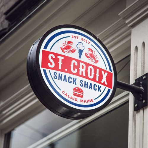 Circle Logo for St. Croix Snack Shack.