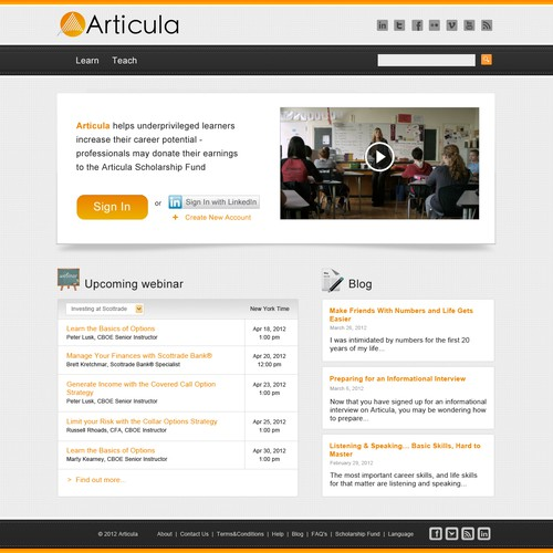 New website design wanted for Articula