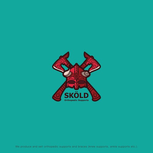 Logo for the orthopedic supports brand Sköld.