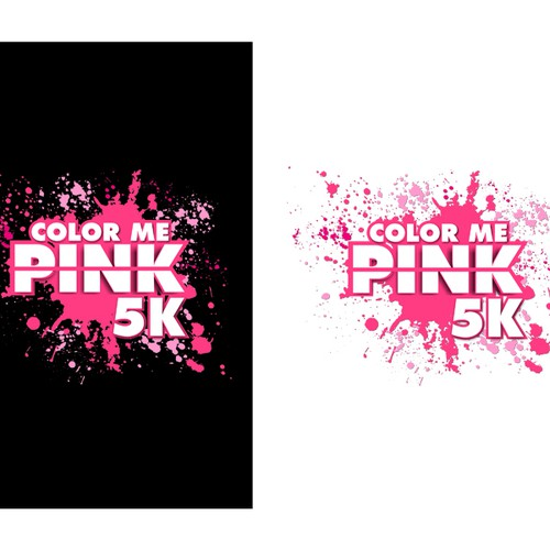 logo for Color Me Pink 5k