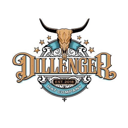 Dillenger Hat Company logo design