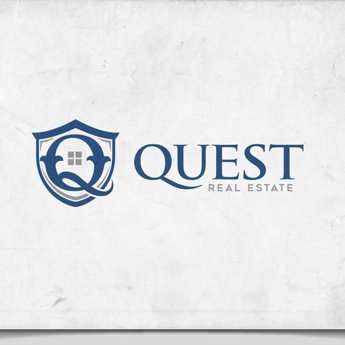 Classy Elegant Logo For Quest Real Estate