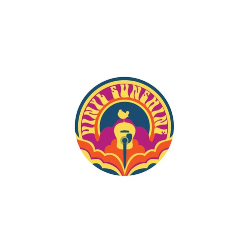 Retro logo for a sunshine pop band