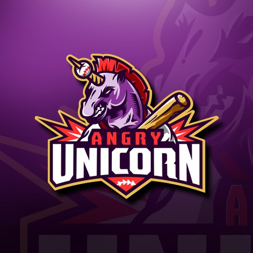 Bold Unicorn Mascot design
