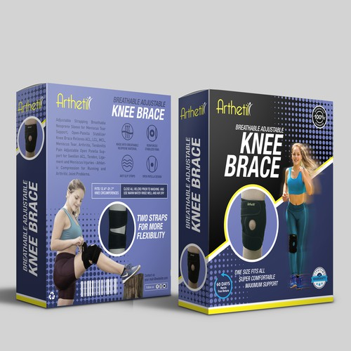 Product Packaging Box For a comfortable Knee Support Brace