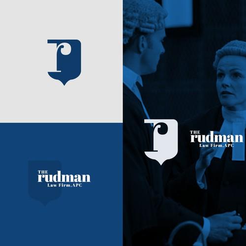 MINIMAL LOGO DESIGN FOR RUDMAN LAW FIRM